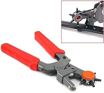 Perforadora Alicates resistente alicate Sacabocados para piel herramienta cinturón punch 6 tamaños