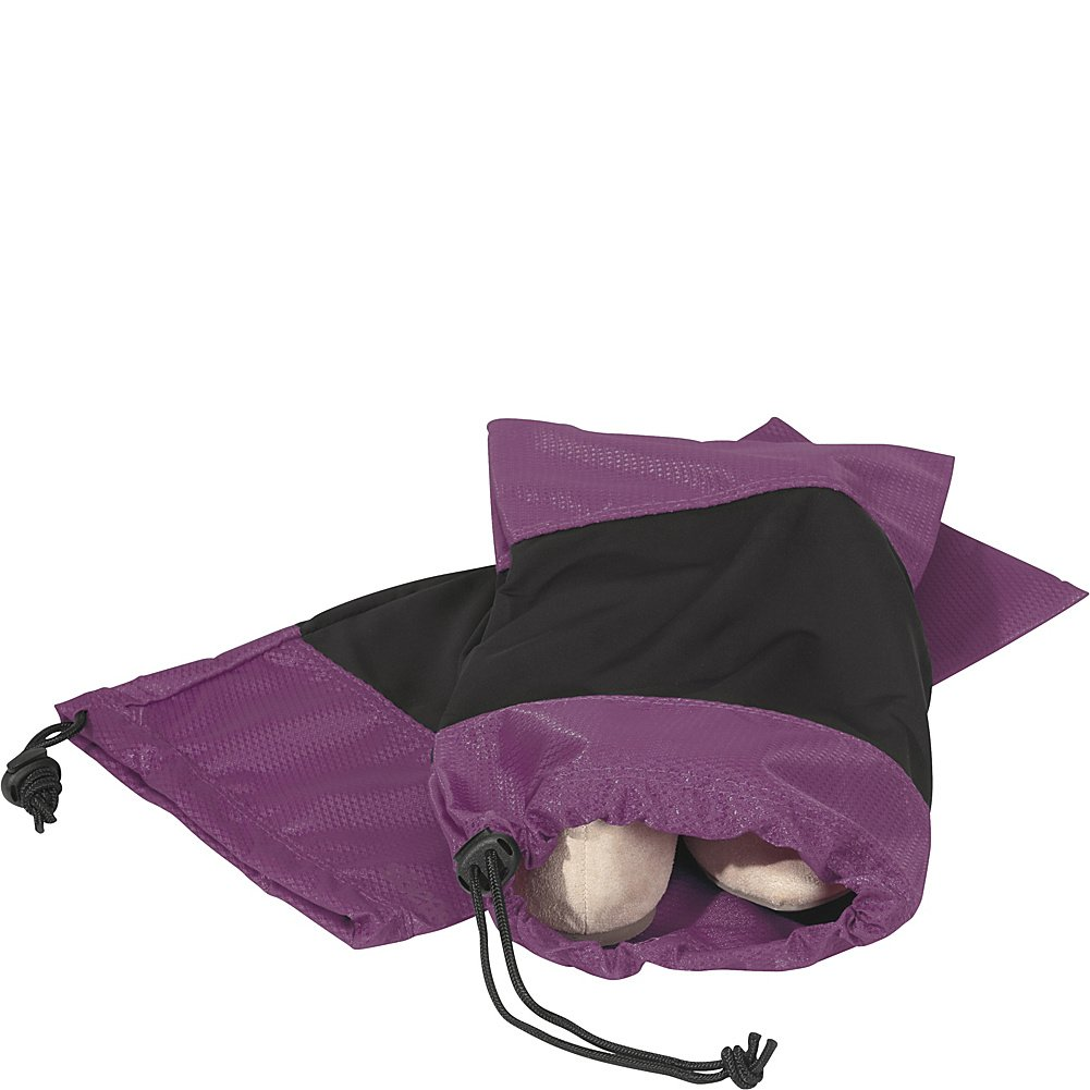 eBags Shoe Sleeves with Drawstring - For Travel - Set of 2 - (Eggplant) by eBags