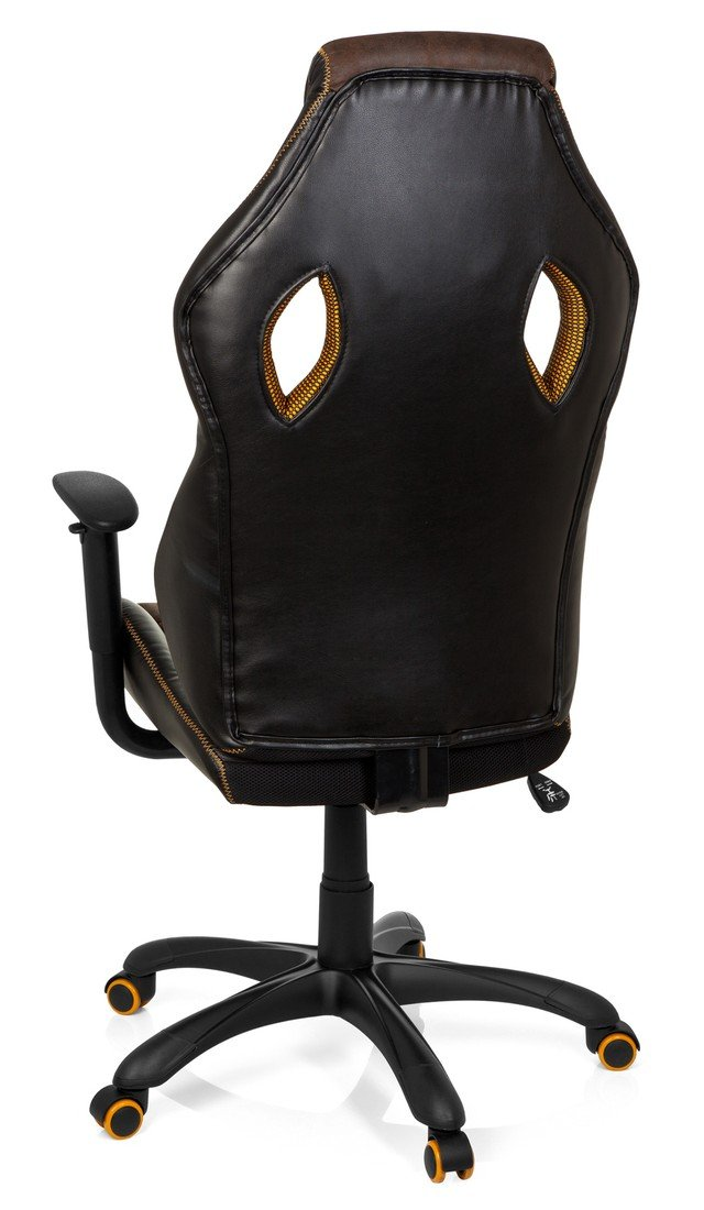 hjh OFFICE 621880 Racing Chefsessel VINTAGE IV Kunstleder Braun//Schwarz Gaming Stuhl mit hoher R/ückenlehne