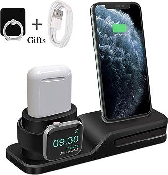 Bestrans Soporte para Apple Watch, 3 en 1 Soporte Silicona para ...