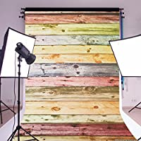 MOHOO Photography Background 5x7ft Canvas Backdrop Picturesque Colorful Wood Floor studio Photo Props backdrop(New Metarial)