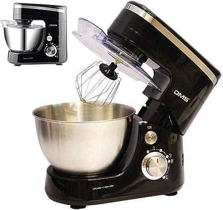 Robot de cocina amasadora eléctrica amasadora de masa para amasar Negro 5L, 1400 W Max. DMS®: Amazon.es: Hogar