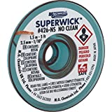 "MG Chemicals #4 No Clean Super Wick Desoldering Braid, 0.1"" Width x 5' Length, Blue"