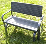 Cheap Merax 48inch Patio Garden Bench Park Yard Outdoor Furniture Glider Bench, Green