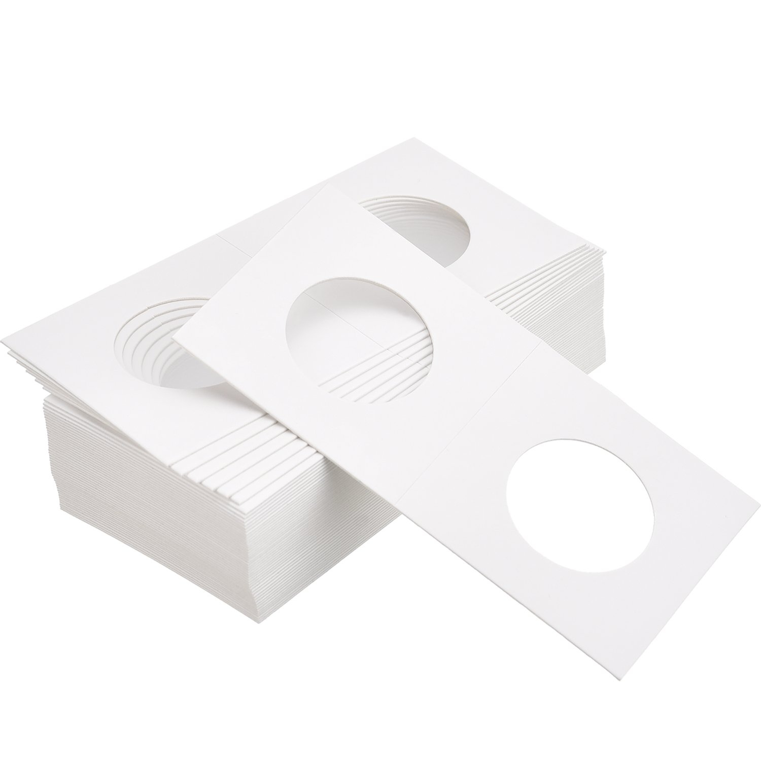 Hicarer 300 Pieces Cardboard Coin Holder Flip Mega Assortment, 2 by 2 Inch for Coin Collection Supplies (6 Sizes) by Hicarer (Image #6)