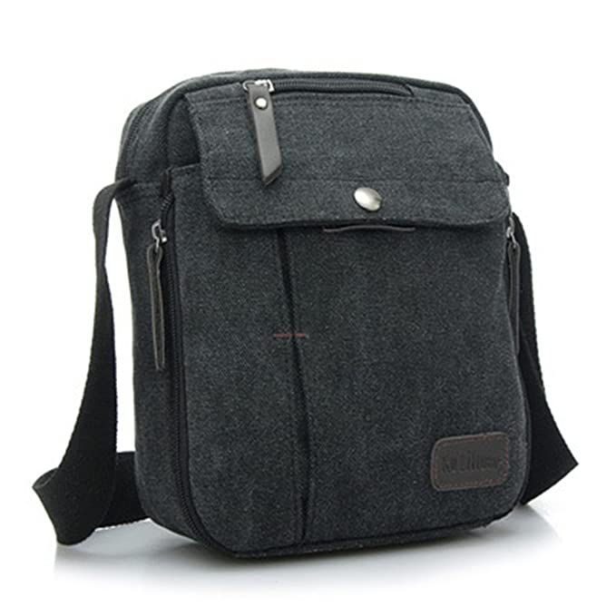 Kipten Men Canvas Small Messenger Bag Shoulder Bag Outdoor Multi-functional  Leisure Travel Bag  542722853d32a