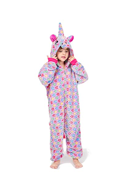 79578a11c cosMonsters Unicorn Onesie for Kids Animal Pajamas Cosplay Christmas ...