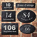 Rustic Slate House Gate Sign Plaque Door Number Personalised Name Laser Engraved
