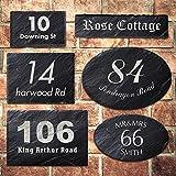 personalisedgiftuk Rustic Slate House Gate Sign Plaque Door Number Personalised Name Laser Engraved