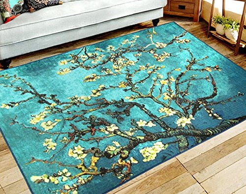 RUIKA Almond Blossoms tree By Vincent Van Gogh Soft Rugs Area Rug Dining Room Home Bedroom Carpet Non-Slip Floor Mat 60 x 39 inches by ruika