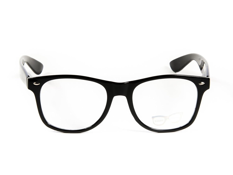 3974649675e0 Amazon.com  Goson Clear Lens Eye Glasses Non Prescription Glasses Frames  For Women and Men - Square Nerd Hipster Glasses - 2 Pairs Black   Black Yellow  ...