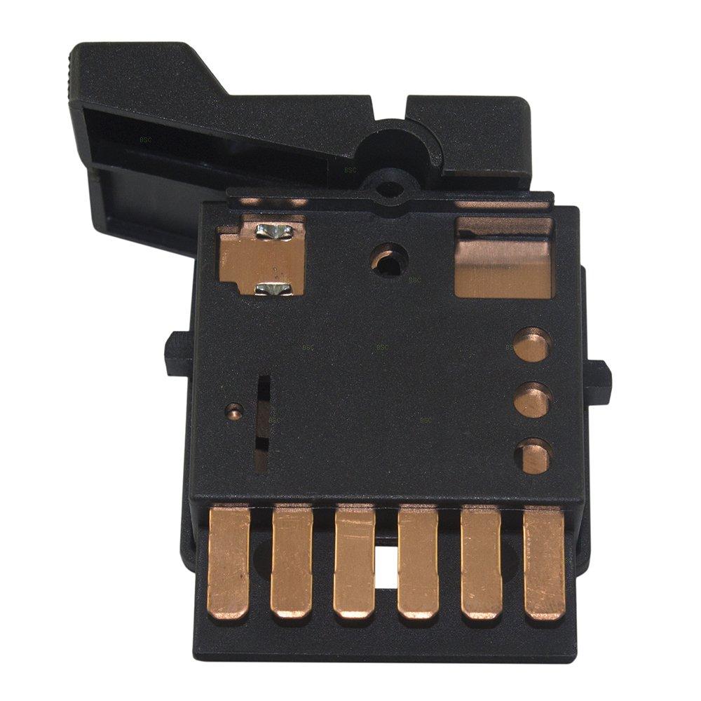 Headlight Headlamp Dimmer Control Switch Black Replacement for Chevrolet GMC Pickup Truck Kodiak Topkick 19245089