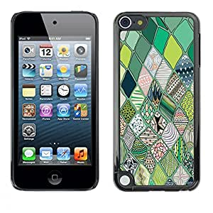 Jordan Colourful Shop - Quilted Imitation Pattern Green For Apple iPod Touch 5 Custom black plastic Case Cover