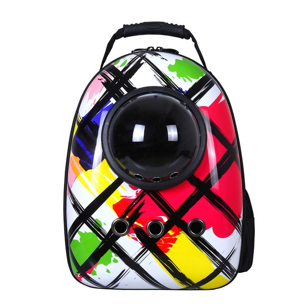 E Magosca Pet Bag Portable Travel Leisure Space Capsule Angolo impermeabile a prova d'acqua, Traveler Bubble Space Pet Carriers Backpack Rucksack Padded Soft per Cats and Dogs (colore: D)
