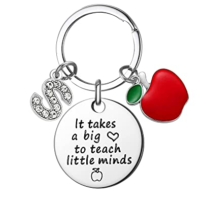 Personalized Black and White Teachers Keychains end of year gifts Birthday gifts