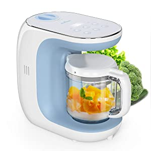 Baby Food Maker Eccomum Baby Food Processor Multi-Function Cooker, ???????????????????????????????????????? and Blender to Steam, and Puree with Tritan Stirring Cup, Touch Control Panel, Auto Shut-Off
