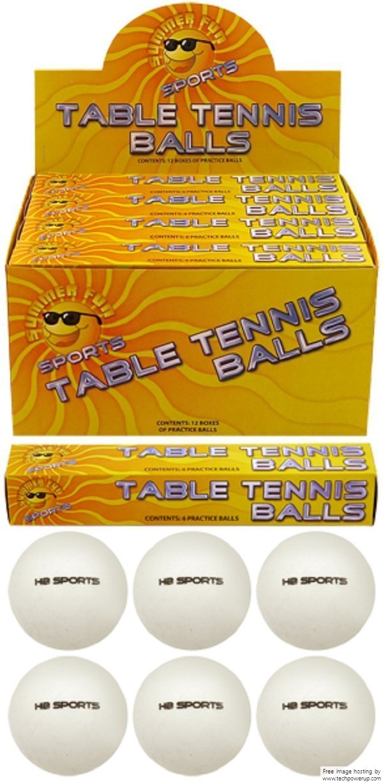 12 x Plain White (logo free) Special Quality Table Tennis Balls. 40mm.