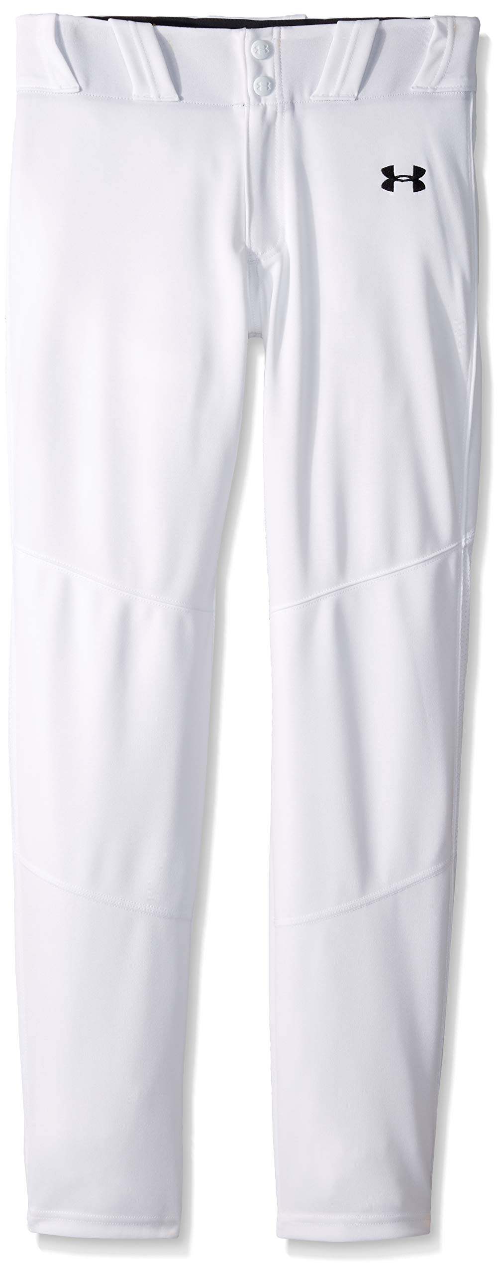 Under Armour Boys IL Ace Relaxed Pants, White (100)/Black, Youth X-Small by Under Armour