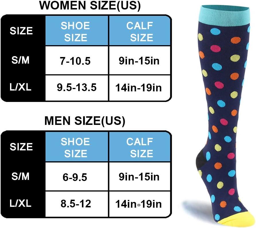 maternidad embarazo /30/mmHg/ Crossfit Calcetines de compresi/ón graduada para las mujeres /& hombres 20/ dolor de espinillas ropa trajes /Medias de compresi/ón moderada para Running enfermera