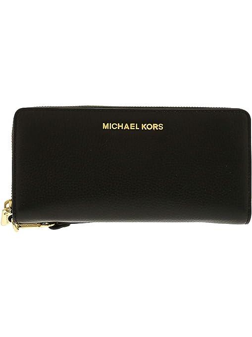 b976594e73dc Michael Kors Women s Jet Set Travel Continental Leather Wristlet - Black  Michael  Kors  Amazon.ca  Shoes   Handbags