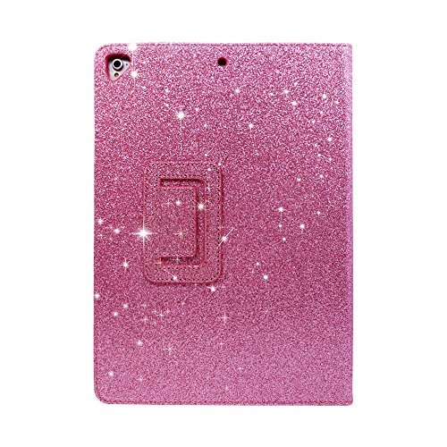 2018 NEW iPad/iPad Air/Air2/Pro 9.7 Glitter Case,FANSONG Bling Sparkle PU Leather Smart Cover [Flip Stand Function] [Auto Sleep/Wake] Universal Case for Apple iPad Air/Air2/Pro 9.7 (Bling Pink) by FANSONG (Image #8)