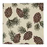 Heart of America Pinecone Printed Napkin - 6 Pieces