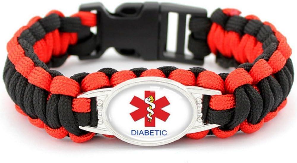 Uhat/® Bracelet Paracorde m/édical multifonction Parapluie de survie bracelet en corde pour ext/érieur