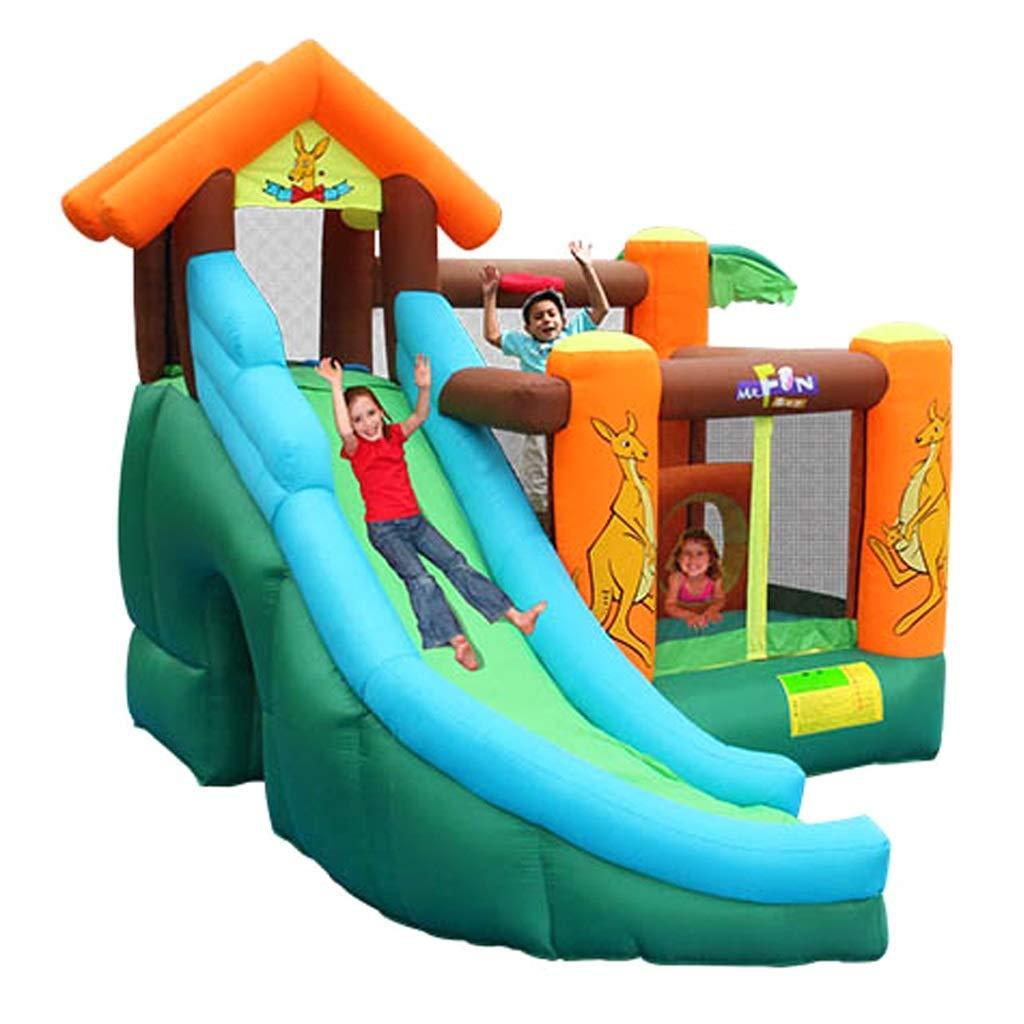 Daxiong Castillo Inflable para niños Kangaroo trampolín ...