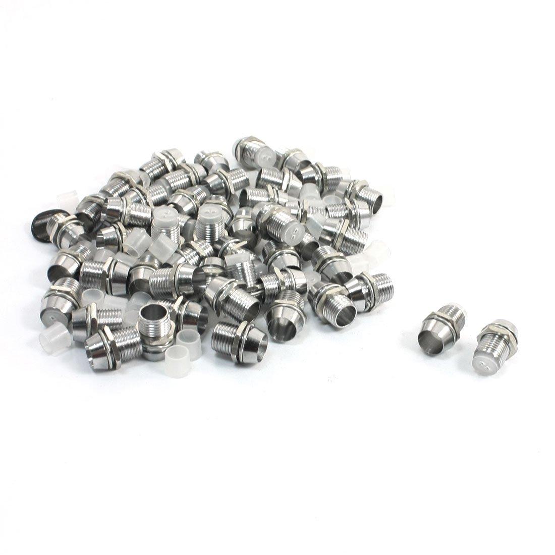 Sourcingmap Lot de 50 supports pourampoules LED 5mm Argent