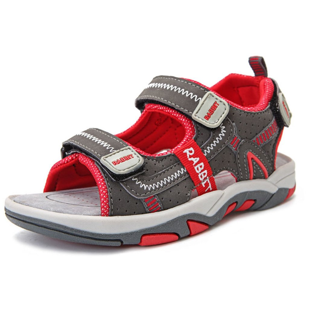 Boy's Girl's Outdoor Athletic Double Adjustable Strap Breathable Open-Toe Water Beach Sandals(Toddler/Little Kid/Big Kid)? by GIY (Image #1)
