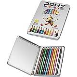 DOMS Fsc 12 Colour Pencil Flat Tin