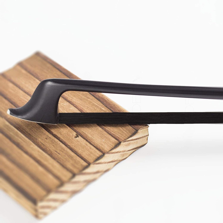 VINGOBOW Natural Black Horse Hair Carbon Fiber Cello Bow 3//4
