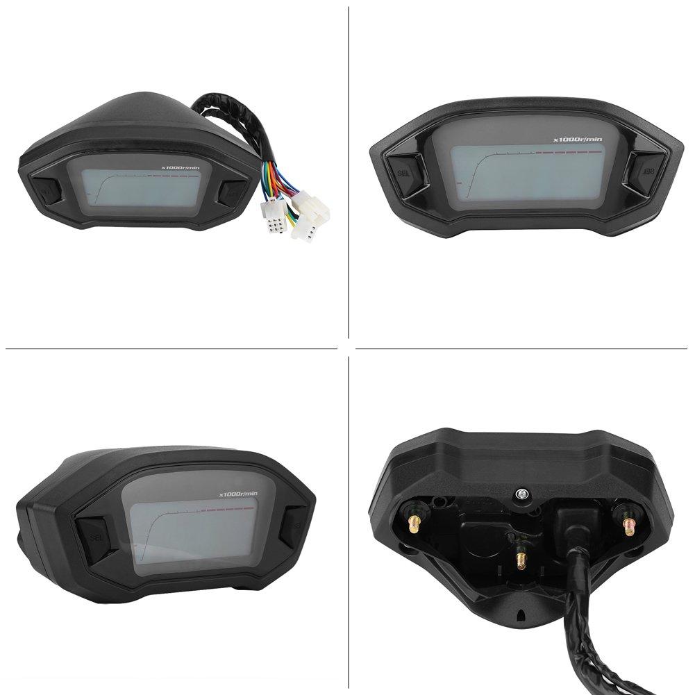 ABS Universal Anti-glare Digital Colorful LCD Motorbike Speedometer Tachometer with Speed Sensor Motorcycle Odometer