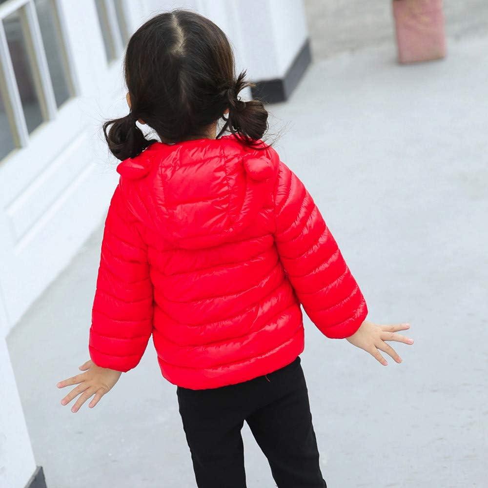 SuperSU Kinder Jungen M/ädchen Winter M/äntel Winterjacke mit Kaputze Daunenmantel m/ädchen Junge Baby Rei/ßverschluss Verdickte Hoodie Winterjacke leichte Daunenjacke Steppjacke