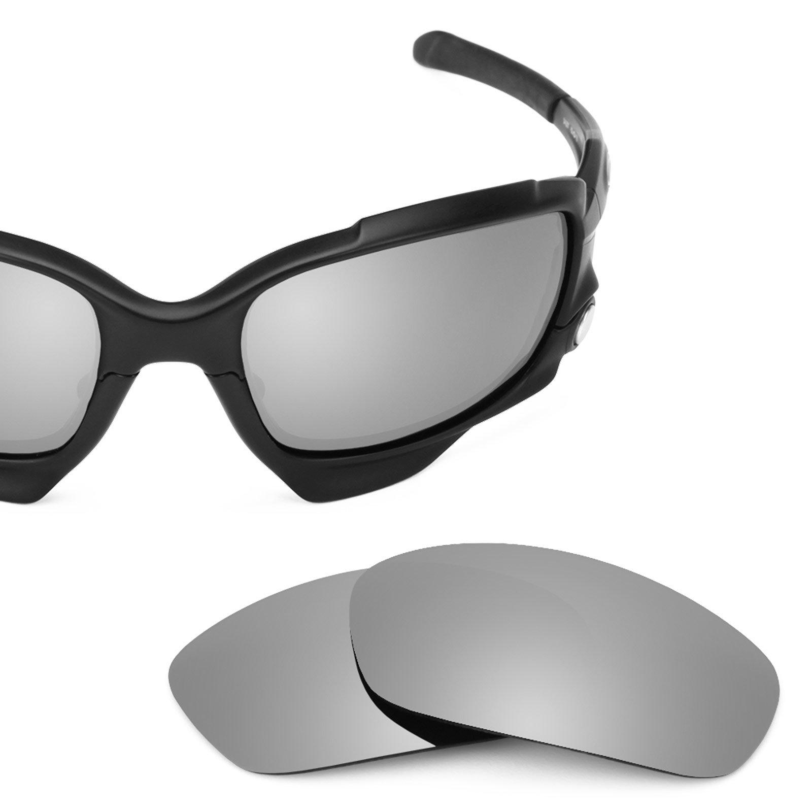 Revant Polarized Replacement Lenses for Oakley Racing Jacket Titanium MirrorShield