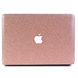 "VTOSEN Macbook Pro 13 Inch Case 2017 & 2016 Release A1706/A1708, Glitter Bling PC Hard Shell Cover with Keyboard Cover for Macbook Pro 13"" with & w/out Touch Bar - Rose Gold"