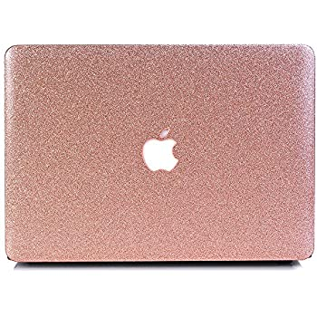 "BELK-MacBook Air 13"" Case,2 In 1 Bling Crystal Smooth Ultra-Slim Light Weight PC Hard Case With Keyboard Cover For MacBook Air 13.3 Inch(Model:A1369/A1466) - Shining Rose Golden"