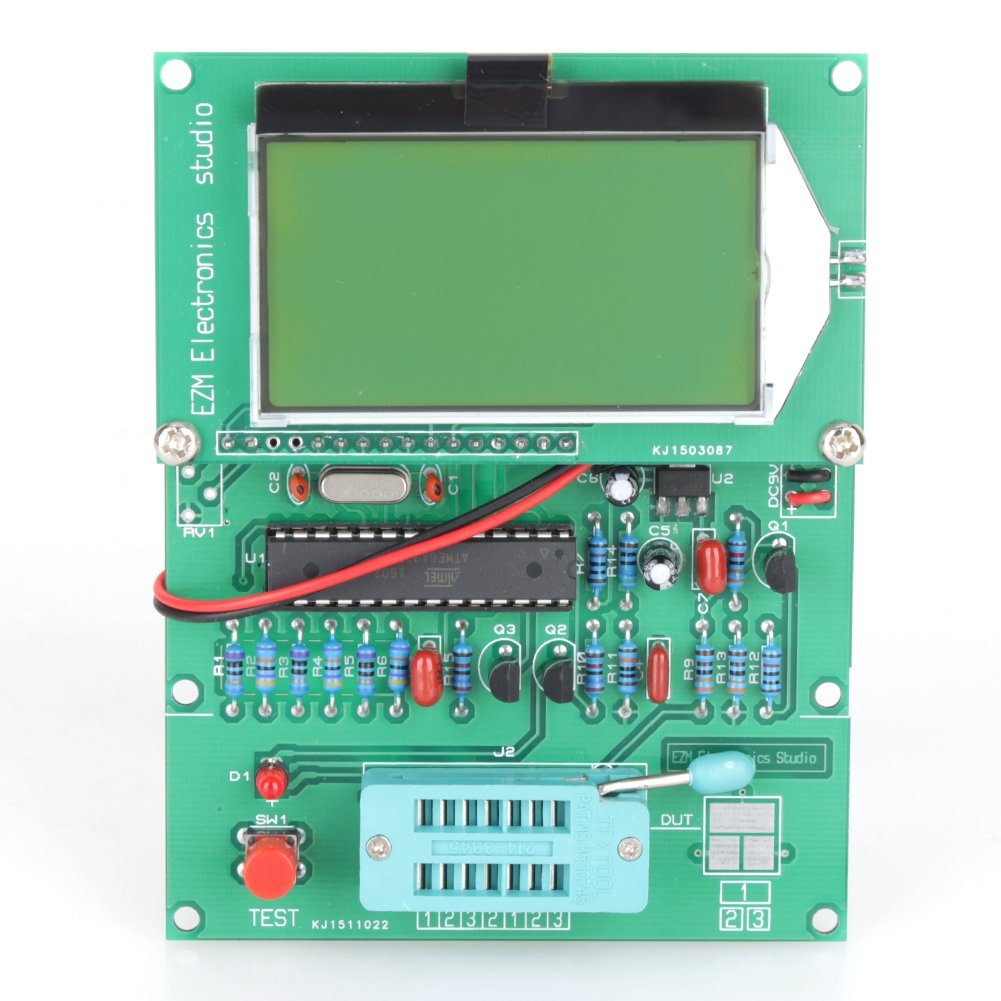 Yosoo GM328 LCD Big Display Transistor Tester ESR Meter Cymometer Square Wave Generator GOMASINSUD77488