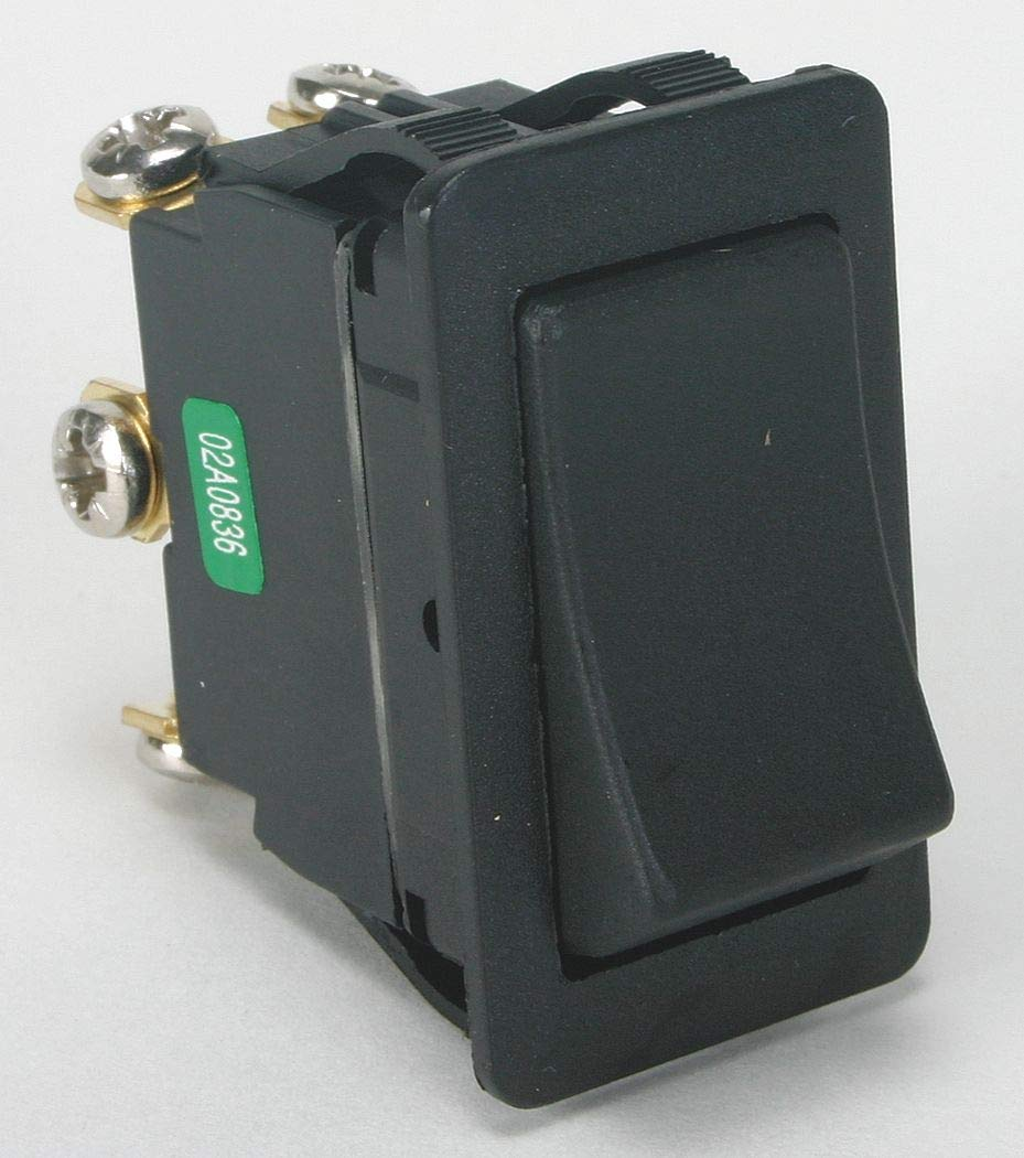 Power First Rocker Switch, Contact Form: DPDT, Number of Connections: 6, Terminals: Screw - 2LNG6 ( Pack of 2 ) by Power First