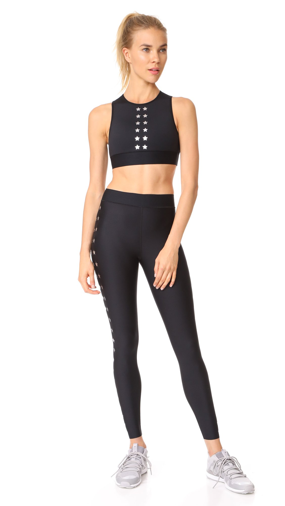 Ultracor Women's Ultra Matte Flash Knockout Leggings, Nero/Silver, X-Small by Ultracor (Image #4)