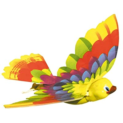 Big Game Toys~Flying Bird orinthopter Wind-up Rubber Band Powered Plane Glider Retro Toy: Toys & Games