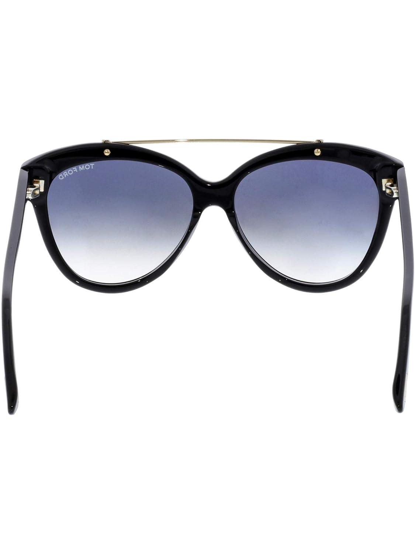 f8a98f125679 Tom Ford Livia FT 0518 01B Shiny Black Gold   Grey Gradient Sunglasses   Amazon.ca  Luggage   Bags