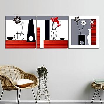 LB Décoration Florale européenne,Blanc,Noir,Rouge,Gris_Huile ...