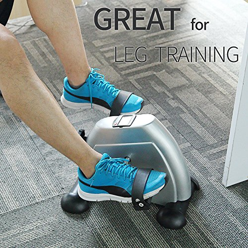 Mini Exercise Bike Portable Home Pedal Exerciser Gym Fitness Leg Arm Cardio Training Adjustable Resistance LCD Display Women Men by HIMALY (Image #5)