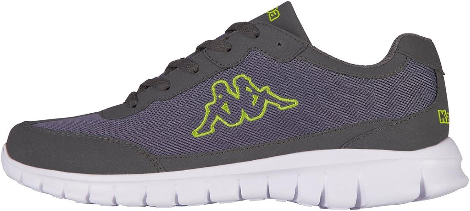 Kappa Rocket Sneakers Fitnesschuhe Damen Herren Unisex Grau/Lime