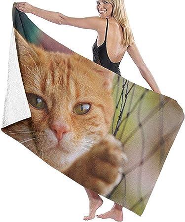Not applicable Ojos Inocentes de Gatos y Gatos Toalla de Playa Personalidad Piscina Toalla de baño de Gran tamaño de Agua 31.5 X 51.2: Amazon.es: Hogar