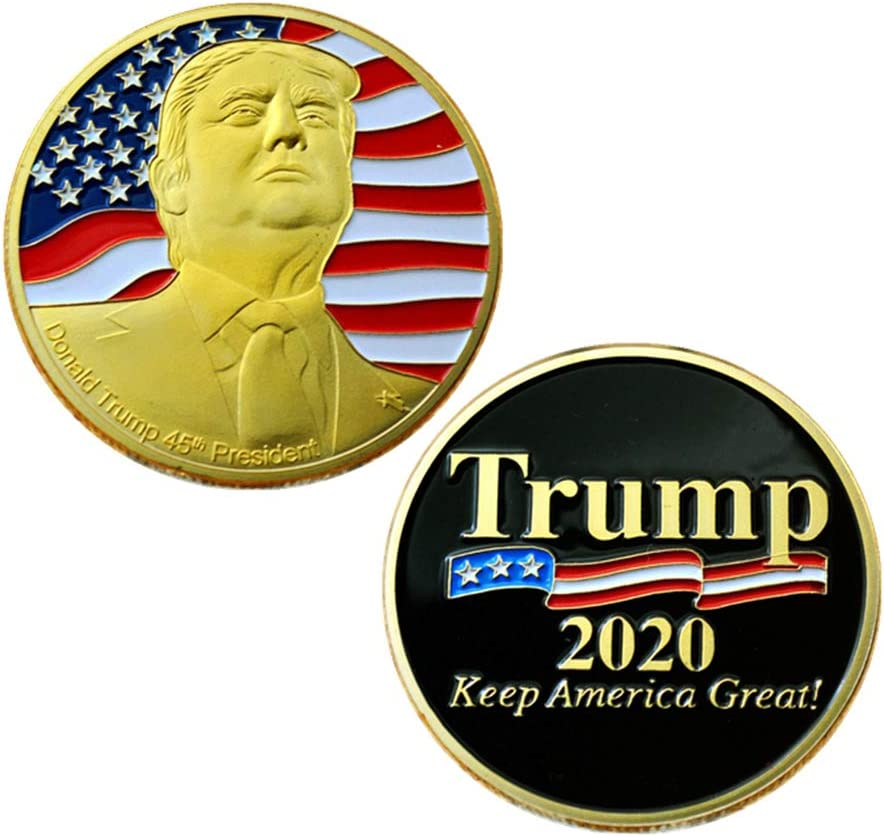 Donald Trump Coin 2020 Gold Plated Challenge Coin