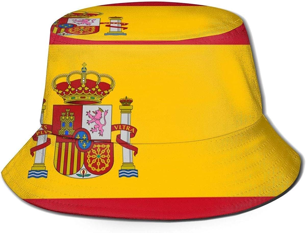 2 Unisex Women Men Sun Hat Bucket Cap Radiancy Inc Summer Outdoor Cap Fisherman Cap Spanish Flag