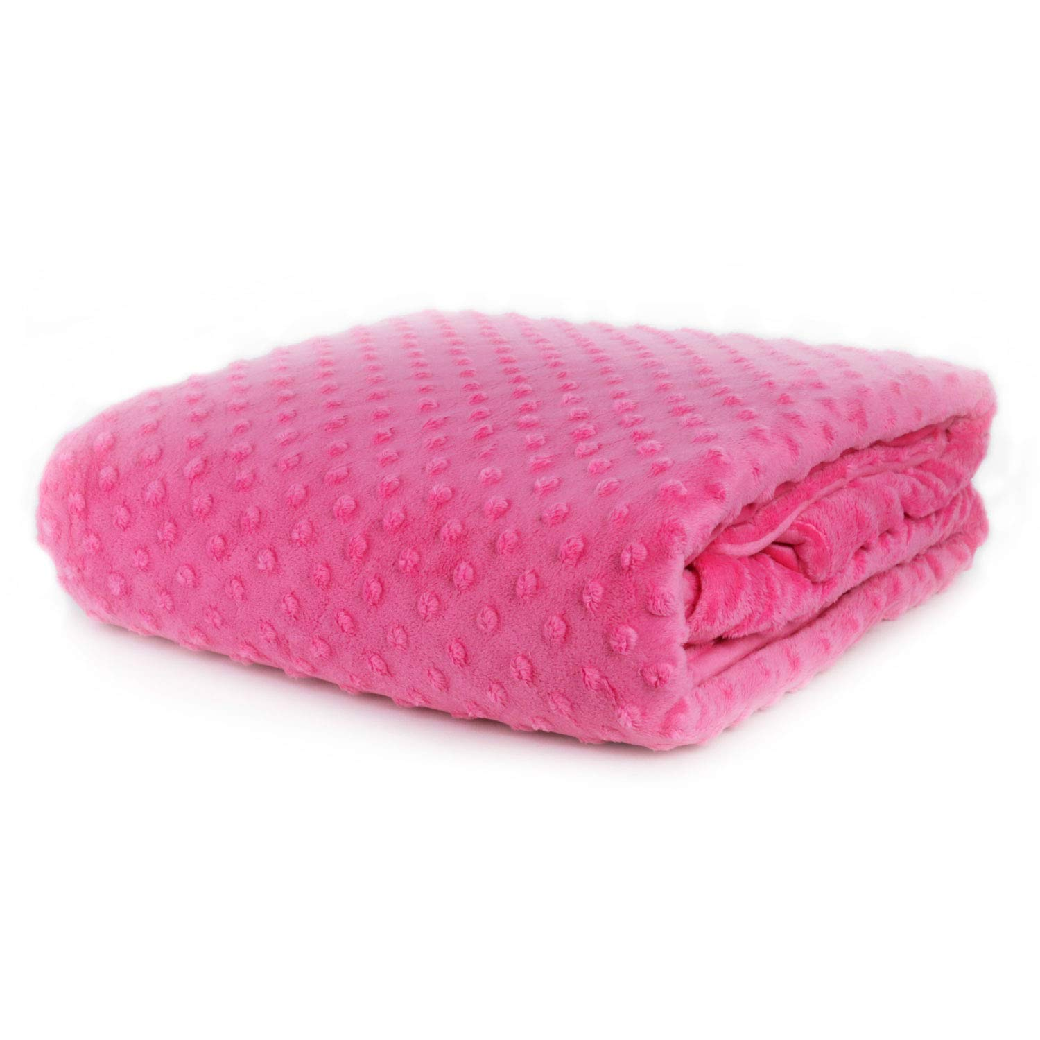 Huggaroo Weighted Blanket for Children (7 lbs, 48 x 36 inches, Hot Pink) | Machine-Washable