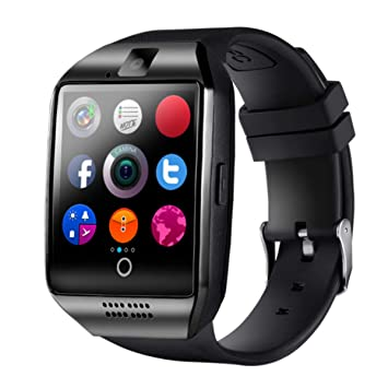 Smartwatch,LATEC Reloj Inteligente Android con Ranura para Tarjeta SIM o Via Bluetooth, Pantalla tactil de 1.56